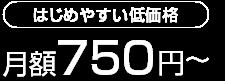 はじめやすい低価格月額750円~